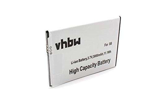 vhbw Akku kompatibel mit Doogee X6, X6 Pro Handy Smartphone Handy (3000mAh, 3,7V, Li-Ion)