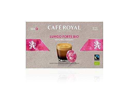 Café Royal Lungo Forte Bio 50 Nespresso (R)* Pro kompatible Kapseln - Kompatible Kaffeepads für Nespresso (R)* Business Solution Maschine - Intensität 5/10