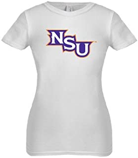 CollegeFanGear Northwestern State Next Level Girls White Fashion Fit T Shirt 'NSU'