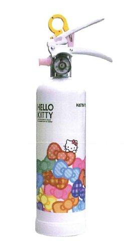 【蓄圧式】女性にうれしい住宅用強化液消火器 ハツタ ハローキティ消火器 HK1-WR ※リサイクルシール付
