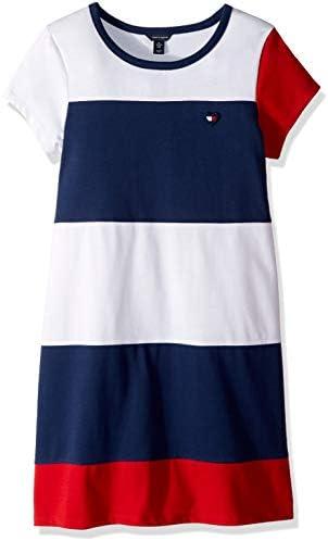 Tommy Hilfiger Big Girl s Big Girls Colorblocked Dress Dress jersey flag blue Extra Large 16 product image