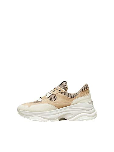 SELECTED FEMME Damen Sneakers Chunky - 37Sand