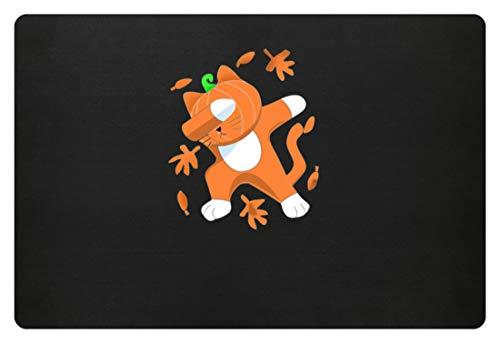 Generieke Dabbing kat met pompoenkop Cat Pumpkin Halloween - eenvoudig en grappig design - deurmat