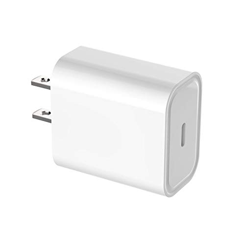Hspemo Cargador USB C de 20 W, PD, cargador rápido compatible con iPhone 12, 12 Pro, 12 Pro Max, 12 Mini, 11Pro, SE 2020, X, iPad Pro 2020, Galaxy S10, etc.
