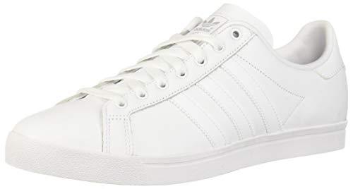 adidas Originals Men's Coast Star Sneaker, White, White, Grey, 9.5 Medium US