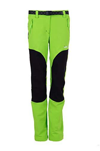 Izas Dorota, Pantalone Donna, Verde (Light Grey/Nero), M