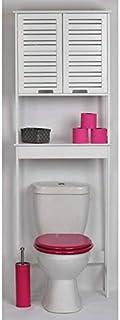 TENDANCE Mueble para baño WC - 2 puertas y 1 estante - Diseño puro y sencillo