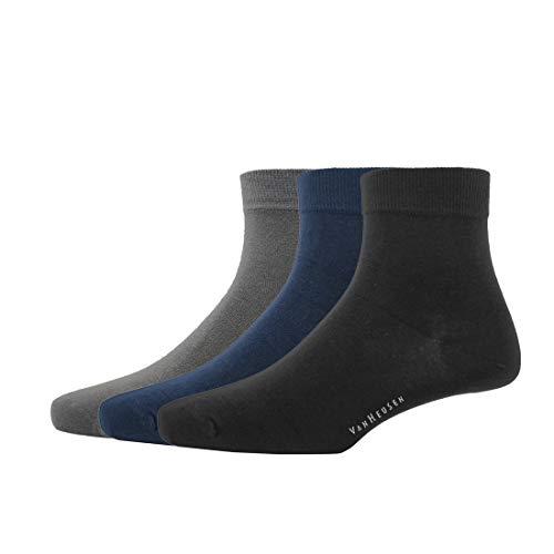 Van Heusen Men's Cotton Quarter Crew length Socks (Pack Of 3)