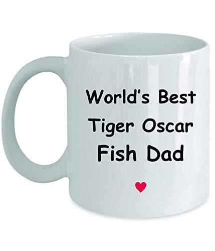 Regalo per tiger oscar pesce papà - il meglio del mondo - novità divertente idea regalo caffè tazza di tè regali divertenti compleanno natale anniversario grazie apprezzamento 11 once tazza bianca
