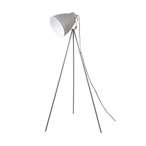 Leitmotiv Stehleuchte Mingle 3 Beine Metall grau, Kupfer Akzent, Höhe 145cm und Ø26,5cm