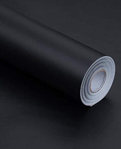 BENQUE 壁紙シール 無地 DIY はがせる 防水 補修 リメイクシート 45cm×10M ブラック