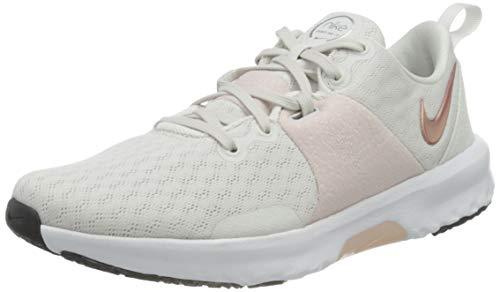 Nike Damen City Trainer 3 Gymnastics Shoe, Platinum Tint/Metallic Red Bronze-Barely Rose-Metallic Silver-Black-White, 39 EU