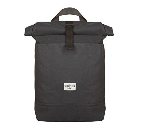 Rucksack Backpack Daypack Roll Top Überschlag Rollover Nylon Kuriertasche (Grau)
