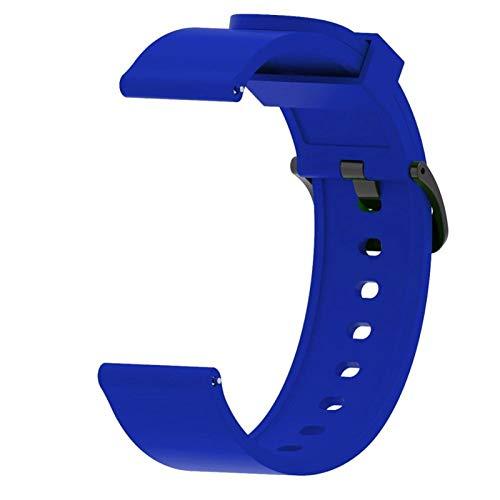 LRJBFC Para Huawei Watch GT2 Strap 42mm Reloj de Silicona brazaletes Brazalete de 20 mm Correa de Reloj para Galaxy Watch Active 2 para Amazfit BIP □□□□□□□ (Band Color : Blue, Band Width : 20mm)