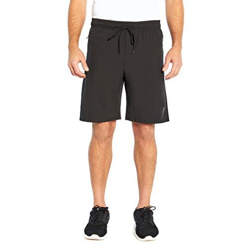 Balance Collection Men's Energy Zipper Pocket Short, Black, Small