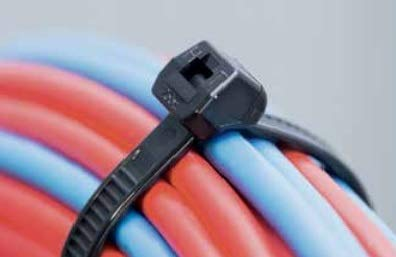 """100 Pack Cable Zip Ties Heavy Duty""""Made in the USA"""" 4 inch, Black"""