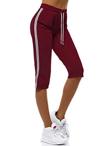 OZONEE dames sportbroek korte shorts sweatpants trainingsbroek korte broek bermuda sportshorts joggingbroek vrijetijdsbroek sweatshorts damesbroek sport capri capribroek JS / 1021 / C
