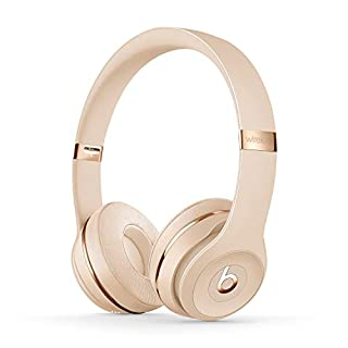 Casque supra-auriculaire Beats Solo3 sans fil - Puce Apple W1 pour casques et écouteurs, Bluetooth classe 1, 40 heures d'écoute - Or satiné (B07YVXPSRM) | Amazon price tracker / tracking, Amazon price history charts, Amazon price watches, Amazon price drop alerts