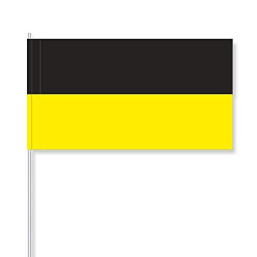 antrada Papierfähnchen, Baden-Württemberg (schwarz-gelb) (50 Stück)