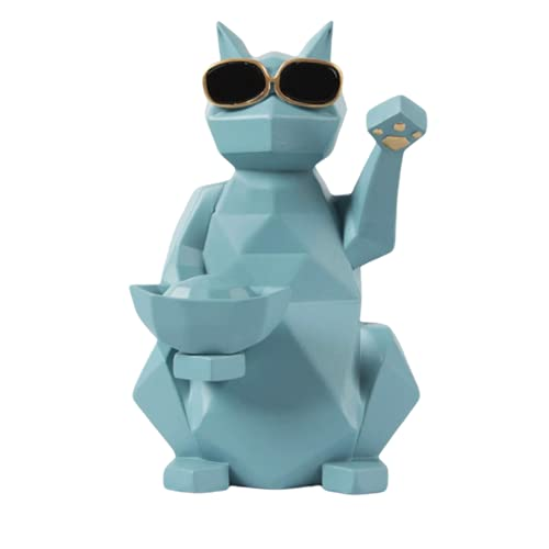 Manualidades Escultura Figuras En Miniatura De Resina De Gato De La Fortuna Geométricas Creativas De Europa, Artesanía De Mesa, Regalos De Apertura De Tienda, Decoración De La Sala De Estar del Hogar