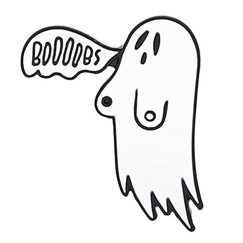 Canghai Broche de Halloween con diseño de fantasma de horror y esmalte para solapa, insignias, accesorios para disfraz de fiesta, regalos para mujeres, niñas y hombres (B)