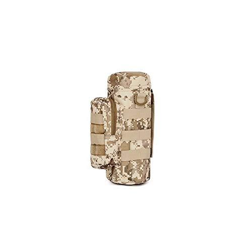 KEHUITONG ZSRXL Tactical Kettle Tasche Outdoor Sports Tragbare Camo Wasserflasche Taschen-Jagd Camping Wandern Reisen Militärrucksack (Color : Desert digital)