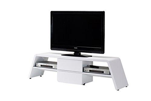 Jahnke CU-CULTURE M 170 HG-WS TV-Lowboard, E1-Holzwerkstoffplatten, beschichtet, hochglanz / weiß, 160,5 x 13,5 x 48,5 cm