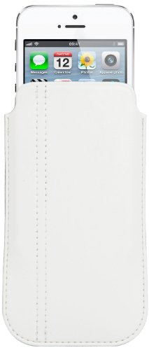 Muvit MUCUNPS080 - Funda universal para iPhone 5, color blanco