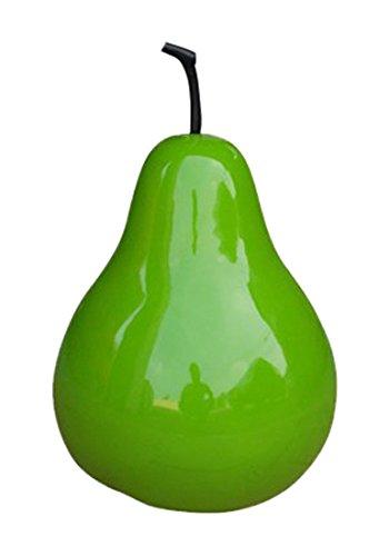 Homea Jardin 5DEJ1148 Poire Polyrésine Laque Vert 20 cm