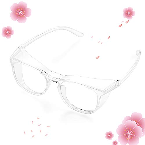 OCLEAR Safety Glasses, Protective Eyewear with Anti Scratch, Safety Goggles Anti Fog and Anti Pollen Lenses, UV Eye Protection, Universal Frame, Suitable for Men and Women (Clear)