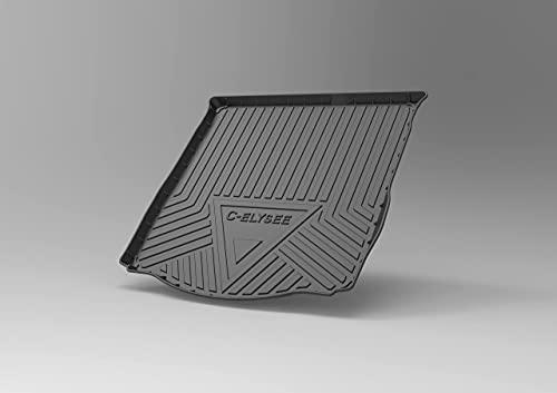 JJWAN 100% New Coche Alfombrillas Maletero, para Citroen C-Elysee 2014-2020 Goma Alfombrillas Antideslizantes Impermeable Maletero Trasero Alfombra Protection Accesorios