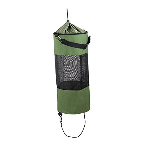 Colcolo Bolsa de Basura Plegable Reutilizable de Malla Portátil para Su Bote, Yate, Kayak, Al Aire Libre O Campistas - Verde