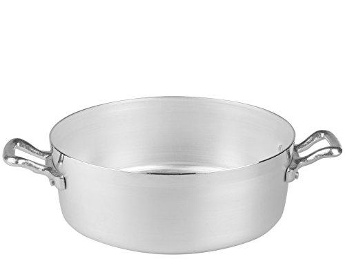 Pentole Agnelli AGNELLI Casseruola Alluminio Bassa Family 2 Manici cm40 Pentole Cucina, 40 cm