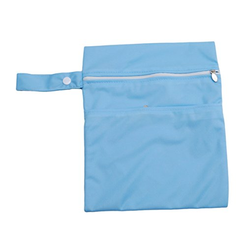 ODN Beutel Organisatoren Outdoor-Reisen wasserdichtes Diaper Bag mit Doppel Reißverschluss,Blau