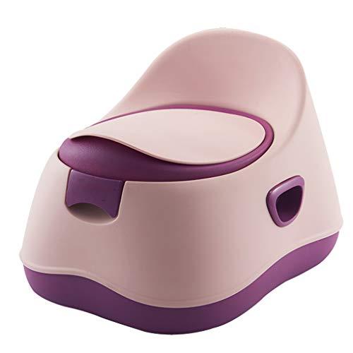 AUEDC 3-in-1Toilet Trainer Potty Chair and Step Stool Design séparé Tasse à déchets Amovible Design Anti-éclaboussures Stable et antidérapant pour garçons et Filles,Rose