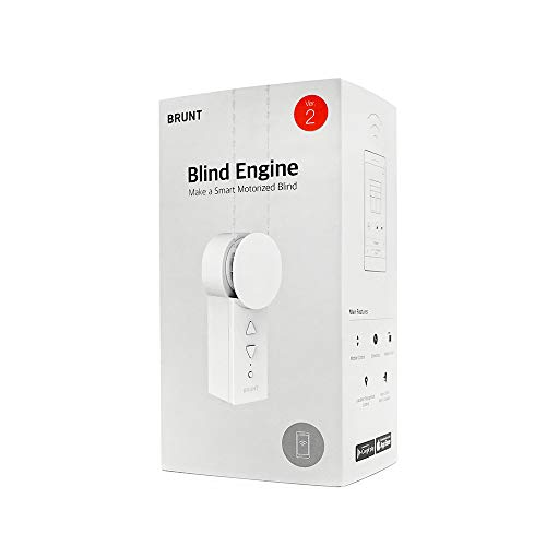 Brunt Blind Engine - Smart Motorized Blind, Make Your Existing Blind To Smart, Automated, Motorized Blind, Connected Home, Home Automation, Compatible with Amazon Alexa and Google Assistant