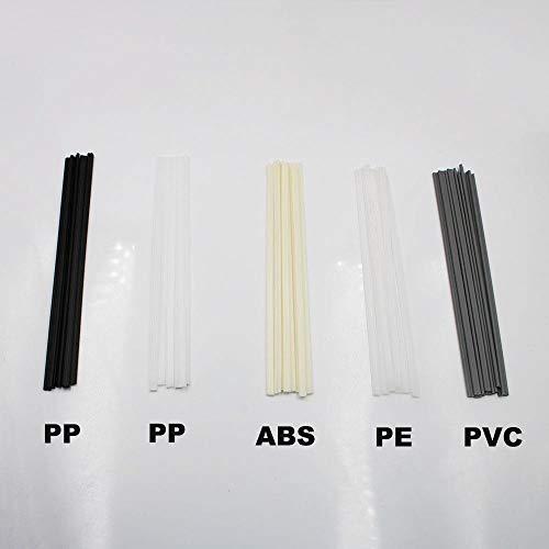 Zent 10Pcs ABS PP PVC PE Kunststoff-SchweißstäbeStoßstangenreparatur5x2mm Schweißstäbe für Kunststoffschweißstäbe Schweißzubehör, PE, 10 STÜCKE