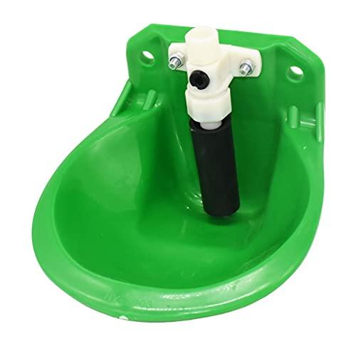 XLAIQ Bebederos de animales Vacuno Oveja Caballo Porcino Perro Cuenco de agua automático 18cm Comederos para animales de granja Equipo para ganado y ovino (Color : Green, Size : One size)