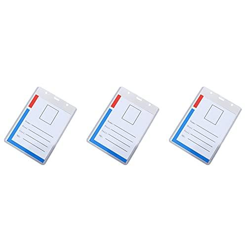 3/5/10 unidades de soporte para tarjetas de identificación, de plástico transparente, horizontal, resistente al agua, funda para tarjetas de identificación, 12,5 x 9,6 cm