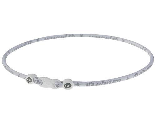 Phiten - Collana classica, 55,9 cm, colore: Bianco