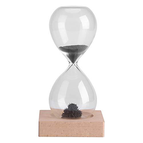 OKBY Temporizador De Arena - Reloj De Arena Magnético Reloj De Arena Temporizador Juguete De Regalo Creativo para El Hogar Oficina Decoración De Escritorio Pantalla con Base De Madera