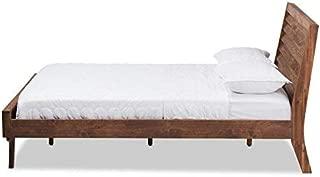 Baxton Studio Serena Mid-Century Modern Brown Wood Queen Size Platform Bed