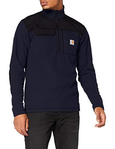 Carhartt Fallon Half-Zip Sweatshirt Sweat-Pullover, Navy, M Homme