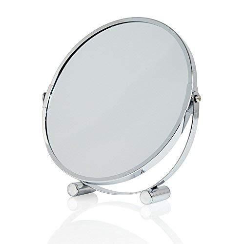 Lumaland formschöner Standspiegel Make Up Kosmetikspiegel Schminkspiegel 5fach Vergrößerung