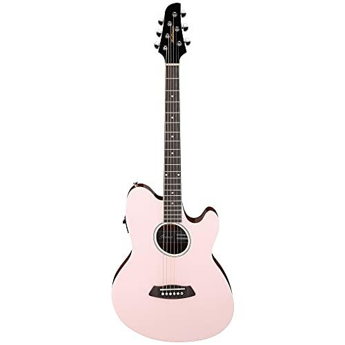 Ibanez TCY10E Talman Acoustic Guitar, Purpleheart Fretboard, Pastel Pink