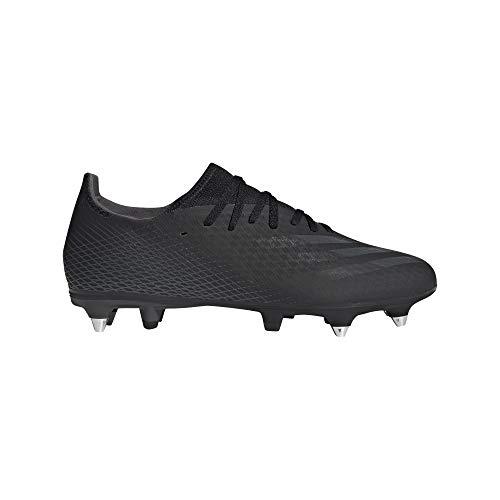 adidas X GHOSTED.3 SG, Zapatillas de fútbol Hombre, NEGBÁS/NEGBÁS/GRISEI, 42 EU