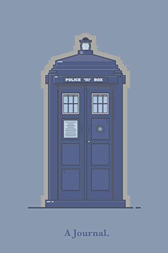 A Journal.: A Police Box Doctor Who Tardis Notebook
