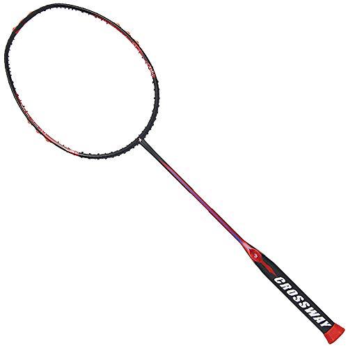 Sipaluo Professionelles Badminton-Set, Zwei Ultraleichte Carbon-BadmintonschläGer FüR Fitnesstraining Und Unterhaltung,Rot