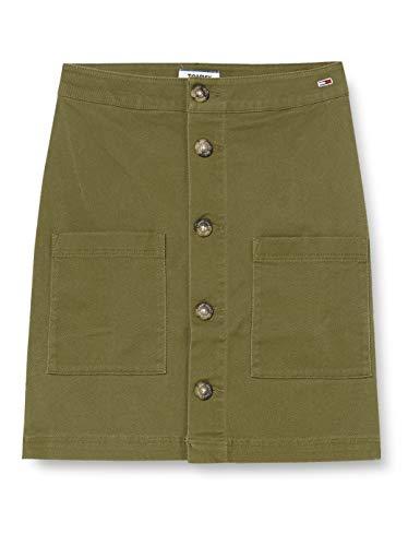 Tommy Jeans Tjw Carpenter Skirt Falda, Verde (Green Mrv), W25 para Mujer