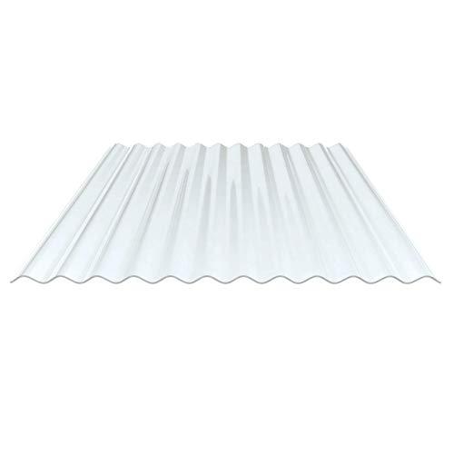 Lichtplatte | Wellplatte | Lichtwellplatte | Profil 76/18 | Material PVC | Breite 1120 mm | Stärke 1,4 mm | Farbe Klargrünlich